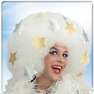 Parrucca afro bianca platinet