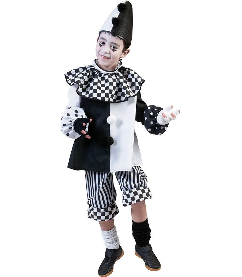 CAPPELLO Per Bambini Pierrot NERO CARNEVALE