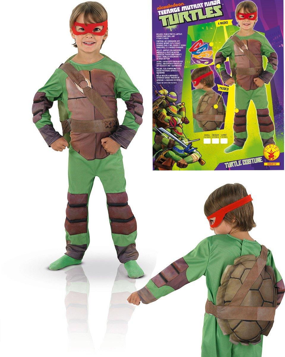 Costume Tartaruga Ninja Con Mascherine Corazza E Muscoli 35 Anni