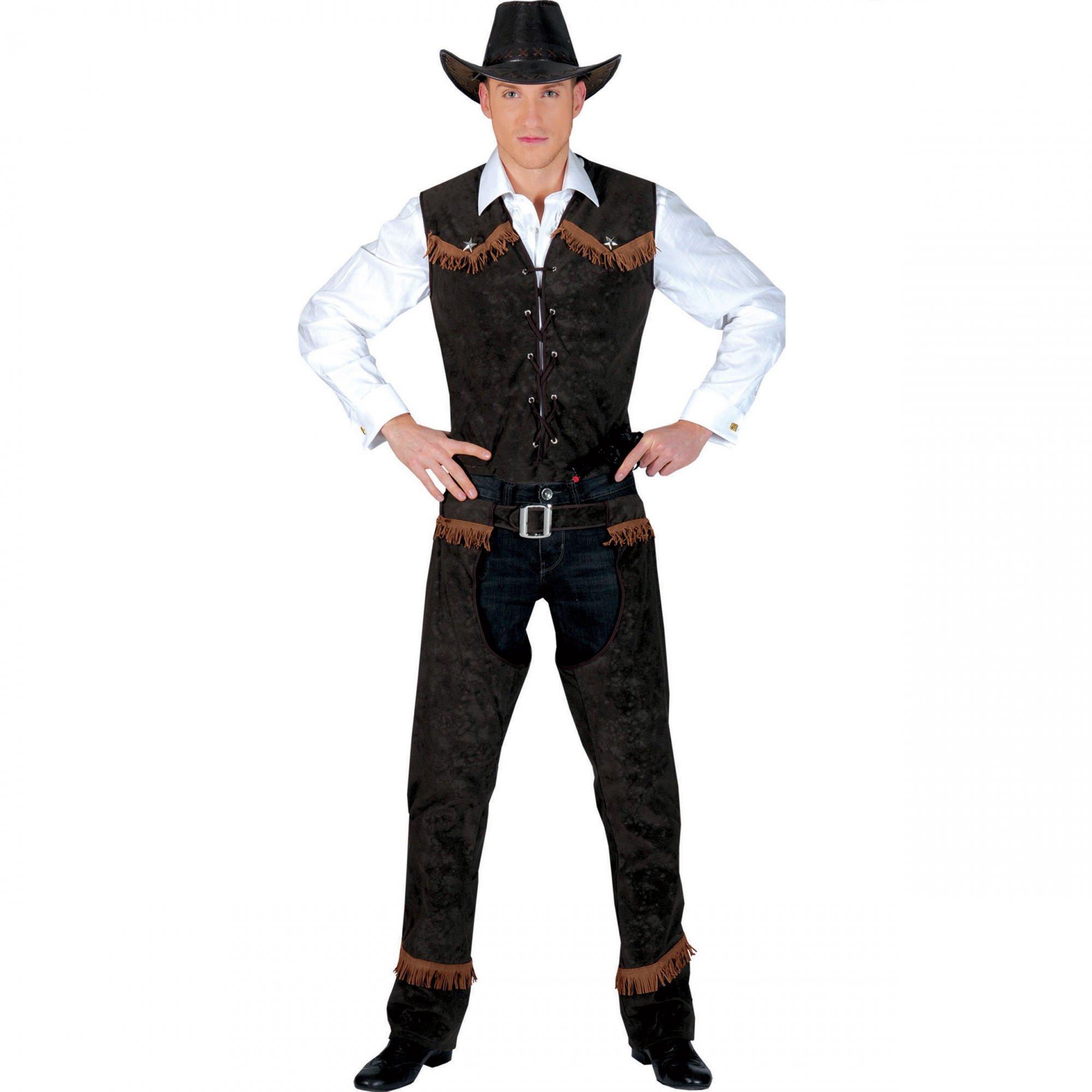 Costume COW BOY con GILLET e  PANTALONE Chaps 48//50-52//54